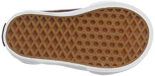 Vans Unisex Baby Old Skool V Suede Sneaker Rot (Suede/ Port Royale/black)