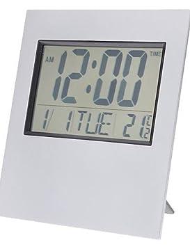 """Ling @6"""" de sobremesa y alarma Reloj calendario digital lcd Termómetro Reloj de pared"""