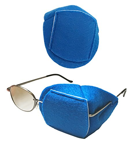Soft, Felt Over-the-Lens Reusable, Handmade Eye Patch to Treat Amblyopia or Lazy Eye or Occlusion Therapy. Available in 10 different colors. (royal (Eye Patch Therapy)