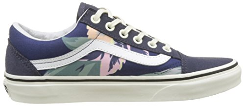 Vans Navy Marshmallowvintage de Skool Multicolore Running Old Chaussures Floral Femme pnxFprq6Uw
