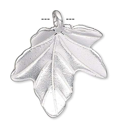 (1 Hills Tribe Silver Plated Copper 20X19Mm Leaf)