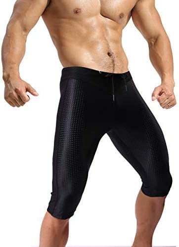 MIZOK Men Workout Shorts Yoga Tights Quick Dry Compression Shorts