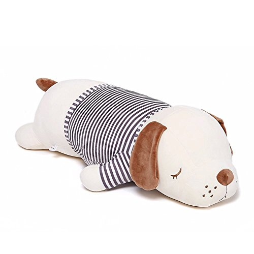 Niuniu Daddy 16'' Super Soft Plush Puppy Stuffed Animal Toy Plush Soft Dog Hugging Animal Puppy Shape Sleeping Kawaii Pillow
