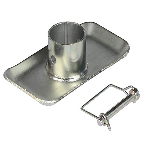Towever Trailer Jack Foot Plate with Safety Pin for RV Boat Camper Jack Base