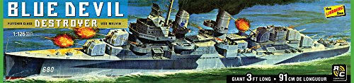 Lindberg Models LN212 1:125 Blue Devil Destroyer USS Melvin DD-680 Model