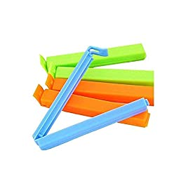 18Pc Plastic Food Snack Bag Pouch Clip Sealer for Keeping Food Fresh for Home Kitchen Camping Snack Seal Sealing Bag Clips (Multi Color)   Pouch Clip Sealer 18 Piece   Food Clips Sealer  