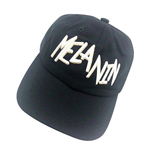 07655ed8145 binbin lin Melanin Dad Hat Baseball Cap Letter Embroidered Dad Hat  Adjustable Strapback Cap