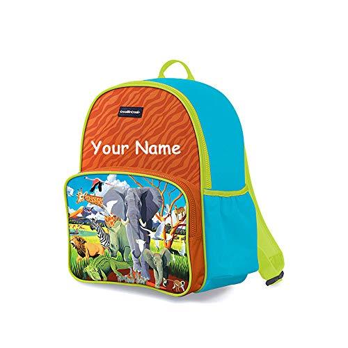 Crocodile Creek Wild Animals - Crocodile Creek Personalized Safari Wild Animal Print Back to School Backpack Book Bag with Custom Name