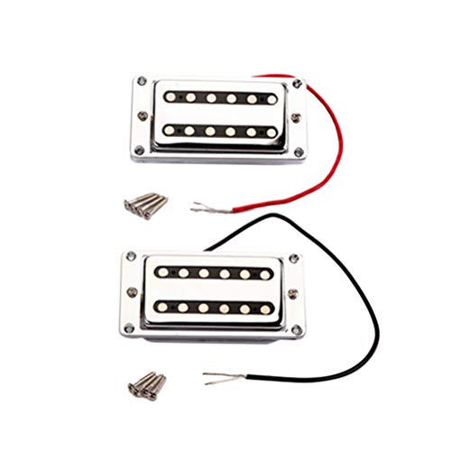 1 Set GMC18 Chrome Plated Guitar Sealed Humbucker Pickups Pick-ups Dual Coil for LP Electric Guitars with Mounting Screws