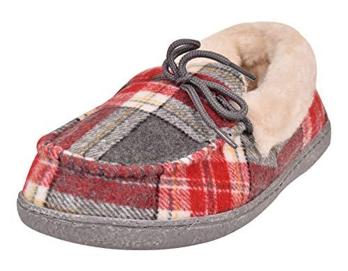 fausse Taille doublé Tartan Chaussures Nessie Chaussons Femmes de 3 fourrure 4nvZq1