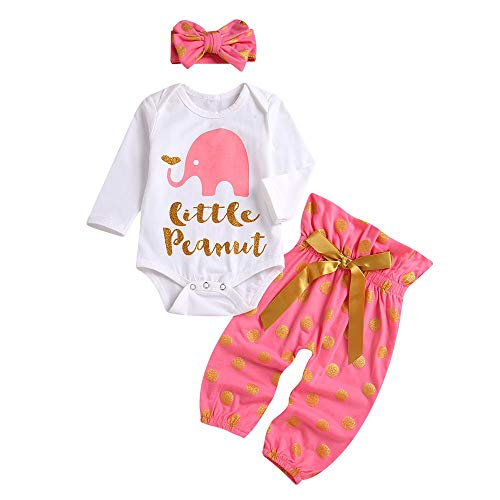 LNGRY Baby Outfits,Toddler Infant Kid Girls Little Peanut