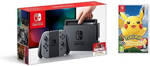 Nintendo Switch - Consola color Gris + Pokémon Lets Go Pikachu: Amazon.es: Videojuegos