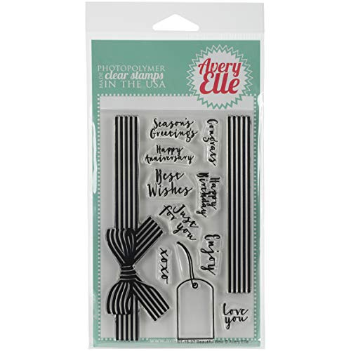 Avery Elle Beautiful Bow Clear Stamp Set, 4