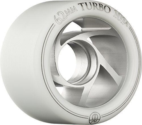 (Rollerbones Turbo 101A Speed/Derby Wheels with an Aluminum Hub (Set of 8), 62mm,)