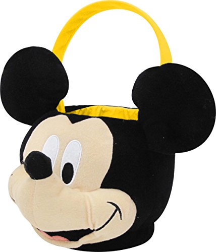 Disney Mickey Mouse Plush Basket, Black/White/Yellow, Jumbo