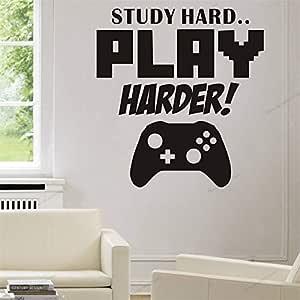 yaonuli Study Hard Play Hard Play Sala de Juegos Etiqueta de la ...