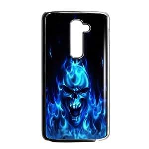 Skull LG G2 Cell Phone Case Black Yfugf