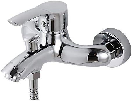 有用 シングルハンドルの蛇口ステンレススチールシルバー壁掛けシャワーとバスタブの蛇口 調整可能 (Bath & Shower Faucet Type : In-Wall Shower Faucets)
