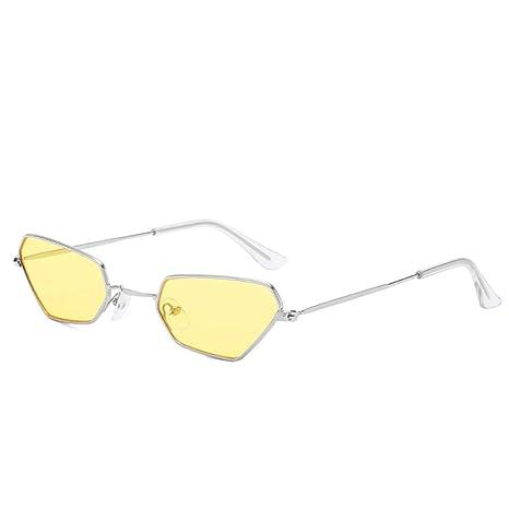 Yangjing-hl Cat Eye Personalidad Gafas de Sol con Montura ...