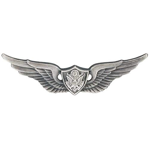 - Medals of America Army Aviation Aircraft Crewman Badges Silver Oxide Dress Miniature