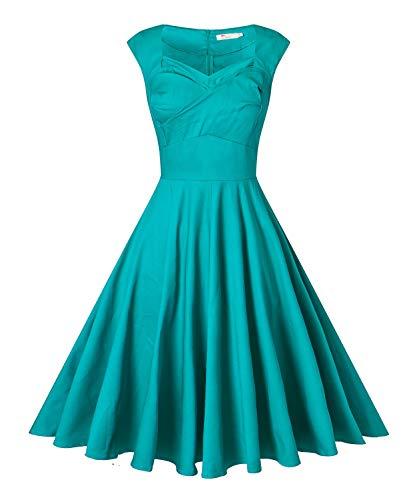 Women's Retro 1950s Vintage Party Swing Dress Cap Sleeve Cocktail -