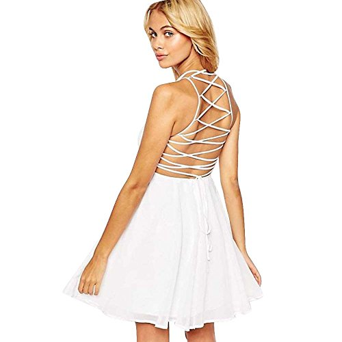 manches white Mini Vtements Party S Cocktail LILICAT Atmosphrique Couleur Multi Sans Femmes Backless Bandages XL Dress aazZq4wx8