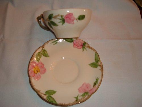 Franciscan Desert Rose Cups & Saucers (Franciscan Desert Rose Cup)