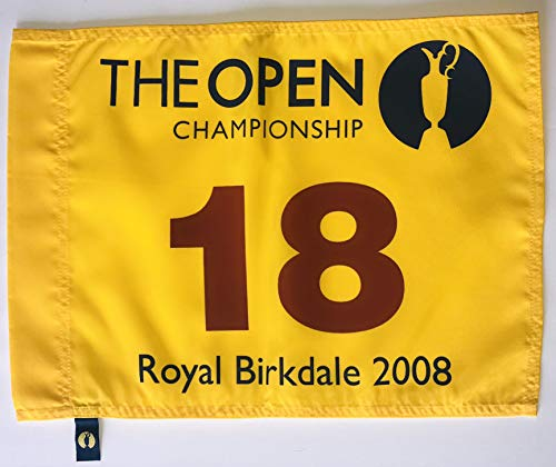 2008 British Open golf Flag royal birkdale championship pin flag pga new padraig harrington wins