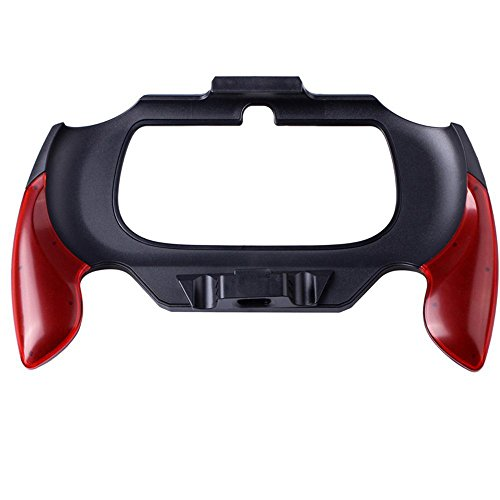 XFUNY Plastic Hand Grip Handle Support Holder Cover Case Bracket Replacement for PS Vita 2000-Red