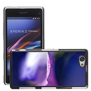 Super Stellar Slim PC Hard Case Cover Skin Armor Shell Protection // M00052883 petal colorful aero purple // Sony Xperia Z1 COMPACT D5503