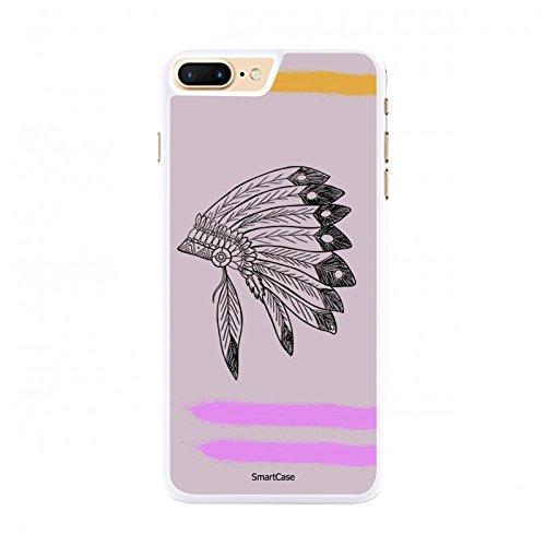 Coque + Verre Trempé pour iPhone 7 Plus SmartCase® PINK INDIAN