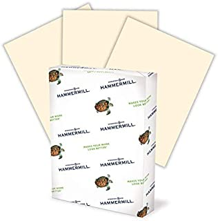 product image for Hammermill Colored Paper, 24 lb Ivory Printer Paper, 8.5 x 11-1 Ream (500 Sheets) - Made in the USA, Pastel Paper