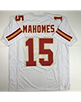 Unsigned Patrick Mahomes Kansas City White Custom Stitched Football Jersey Size Men's XL New No Brands/Logos