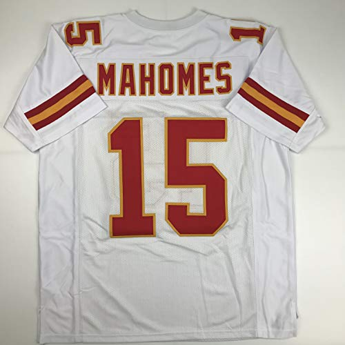 - Unsigned Patrick Mahomes Kansas City White Custom Stitched Football Jersey Size Men's XL New No Brands/Logos