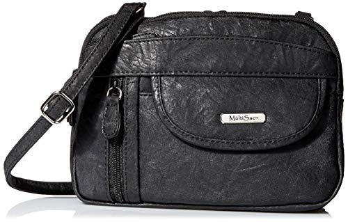 MultiSac Pioneer Crossbody Bags for Women, Ridge-Black (Pioneer Bag)