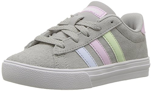 adidas Kids' Daily 2.0, Grey Two/Aero Pink/Aero Blue, 4 M US Little Kid
