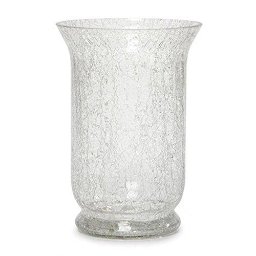 Darice Sdc-1279 Hurricane Vase-Clear Crackle Glass-8 Inches