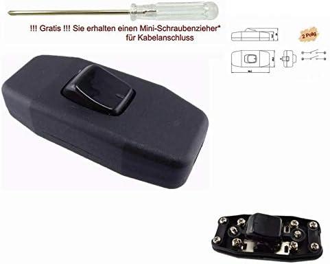 3 broches Ficelle-entre Interrupteur or 250 V ~ avec 2 zugentlastungen 2 6 A