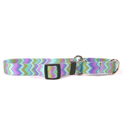 (Chevy Stripe Blue Martingale Control Dog Collar - Size Medium 20
