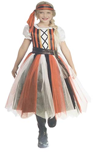 - Wholesale Merchandisers LLC Girls Deluxe Pirate Costume- Tutu Layered Skirt Buccaneer (Medium 8/10)