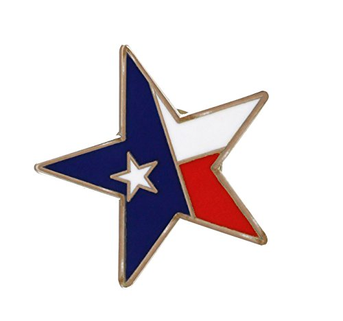 Forge Lone Star State Texas Flag Pride Enamel Lapel Pin (1 Pin) ()