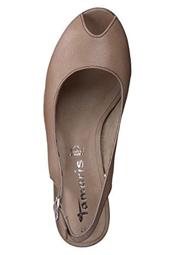 Tamaris elegante, Peep Toe Pumps color de la piel desnuda 1-29301-24 250 Beige
