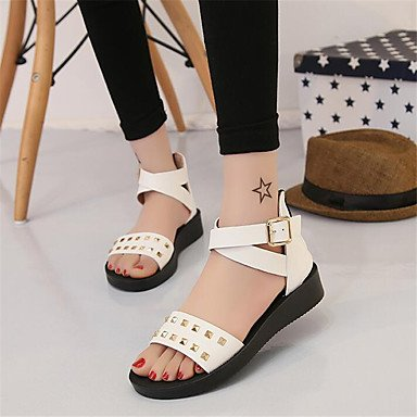Canvas UK7 CN41 Casual Comfort EU40 Flat White Spring US9 Women'S Pu Comfort Sneakers RTRY wxq6Z7Ia