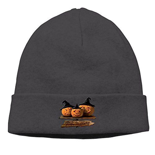 DETO Men's&Women's Halloween Patch Beanie TravellingBlack Hats
