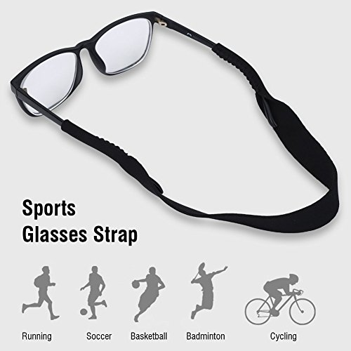 Tbest 5pcs Sports Glasses Elastic Neck Strap Retainer Cord Chain Holder Lanyard for Eyeglasses