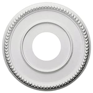 Ekena Millwork CM12BR Bradford Ceiling Medallion, 12 1/2″OD x 3 7/8″ID x 3/4″P (Fits Canopies up to 6 5/8″), Primed