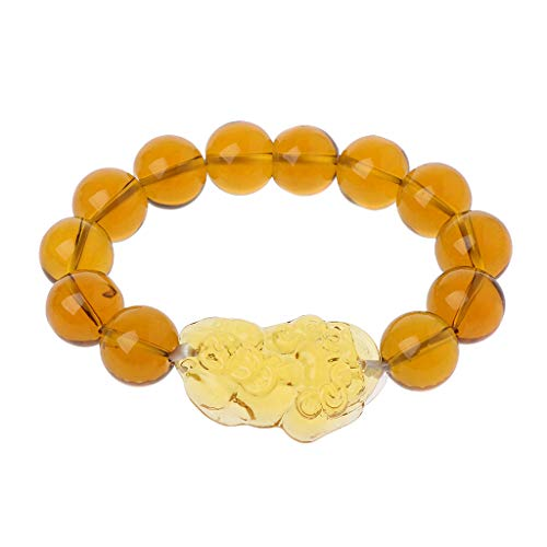 ballboU-Feng Shui Citrine Gem Stone Wealth Pi Xiu Bracelet Attract Wealth and Good Luck