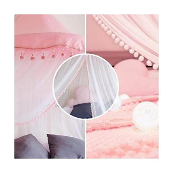 Bulawlly Lettino Canopy Rotonda Dome, Principessa Letto a baldacchino zanzariera da Letto, Tenda del Gioco Decorazione… 3 spesavip