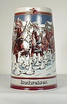 - 1989 BUDWEISER SPECIAL EDITION HOLIDAY STEIN - #CS-89 - WINTER'S EVENING