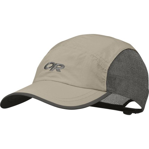 Brooks Running Hat (Outdoor Research Swift Sun Hat, Khaki/Dark Grey, 1Size)